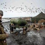 In a camp of the Ukrainian forces in Debaltsevo area, East Ukraine.