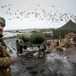 In a camp of the Ukrainian forces in Debaltsevo area, East Ukraine.