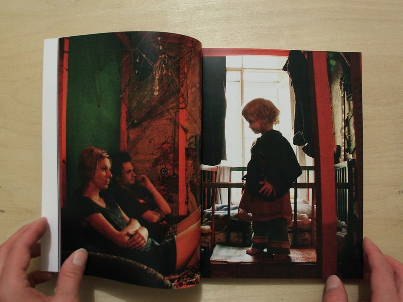 "spread of the book ""Another Family"""