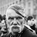 A Cossack from Maidan during a funeral service of the maidan activists.