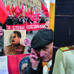 Meeting on the May Day in St.Petersburg Russia