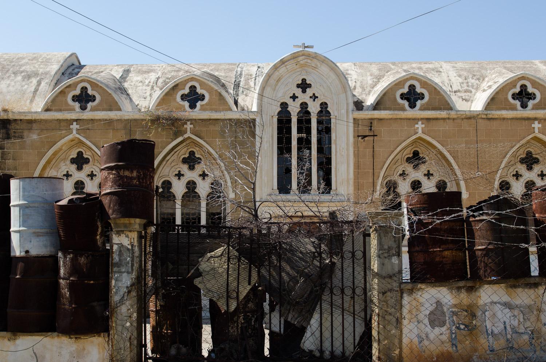 Христианский храм в закрытом греческом районе Вароша.