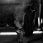 Preparing the tea in samovar. A Roma settlement on the outskirts of Volgograd. / Приготовление чая в самоваре. Цыганский поселеок на окраине Волгограда