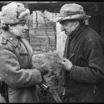 Вост. Германия, апрель 1945г.Врачебная консультация местного населения.